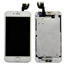 White Front LCD Touch Screen Complete Assembly Home Button Camera for iPhone 6