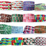 "7/8""22mm 2/5/10/50/ yards Printed Grosgrain Ribbon Hair Bow Sewing DIY"