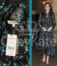 SOLD OUT L.K. BENNETT EVERGREEN SILK MIX CERSEI DRESS UK 8 US 4 BNWT ASO £375