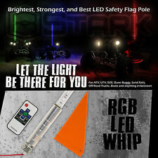 "60"" 5FT RGB Lighted 5050 LED SMD Light Whip w/ Remote Offroad UTV ATV - 1Pc (B)"