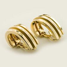 Tiffany & Co. Atlas 1995 18K Yellow Gold Earrings AUTHENTIC GENUINE ORIGINAL