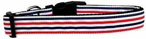 Patriotic Stripes Nylon Dog Pet Puppy Collar