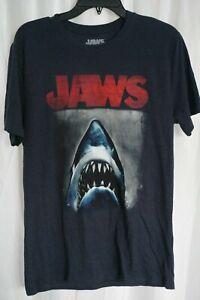 JAWS Movie Poster Gray Cotton Shirt Medium NWT