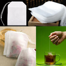 100X White Non-woven Filter Bag Pouch Nylon Mesh Strain For Milk Tea Fruit Juice