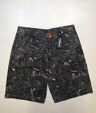 """Men/'s Nylon Water Resistant Trunk Shorts The Hundreds /""""Sidelong/"""" Trunks Black"""