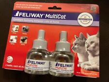 NEW Feliway MultiCat Diffuser Refill 48 mL 2-Pack SEALED