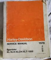 1970-1978 Harley Davidson Electra Glide/Super Glide Manual ... on