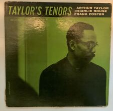"""Art Taylor LP """"Taylor's Tenors"""" New Jazz 8219 ~ DEEP GROOVE ~ RVG Charlie Rouse"""