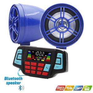 12V Multifunction Motorcycle Bluetooth Speaker Radio FM Stereo USB MP3 Player