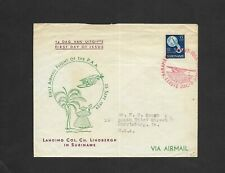 1954 Suriname Airmail First Day Cover-25th Anniversary Landing Charles Lindbergh