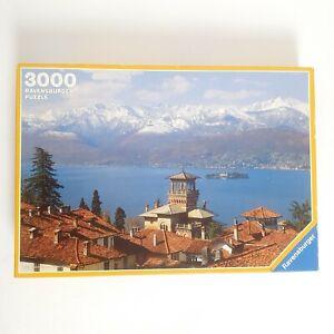 Vintage Ravensburger Extra Large 3000 Pcs Jigsaw Puzzle Snow Mountains Landscape