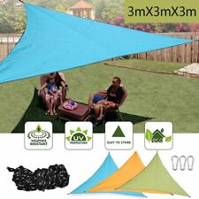 Outdoor Triangle Sun Shade Sail UV Top Canopy Cover Waterproof Garden Awning USA