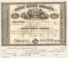 Quincy Mining Company USA von 1861 ---- RAR ----