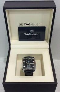 Tag Heuer Monaco WAW131A Leather Strap Men's Watch