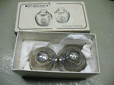 W. M. ROGERS SALT & PEPPER  No. 864  SILVERPLATED   w/ ORIGINAL BOX