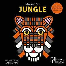 Sticker Art Jungle, Very Good Condition Book, Natural History Museum, ISBN 97818
