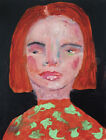 Original+Acrylic+Portrait+Painting+Lonely+Girl+Katie+Jeanne+Wood