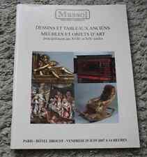 CATALOGUE VENTE 2007 Drouot Massol tableau dessin ancien objet art XVIII° XIX°