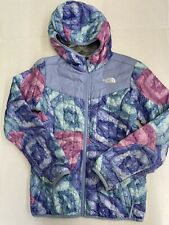 The North Face girls reversible thermaBall Hooded jacket size M 10/12