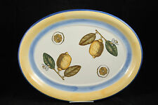 "Portuguese xLarge Oval Platter Pottery ""Amarillo"" Collectible Kitchenware Lemons"