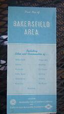 1987 Bakersfield street  map ACSC   oil gas California Oildale Kern City Edison