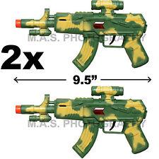 SET OF 2 - TOY SWAT ASSAULT PISTOL MACHINE GUN INCLUDES  SOUND - GREAT FUN!
