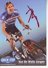 CYCLISME carte cycliste VAN  DE WALLE JURGEN équipe QUICK STEP 2011  signée