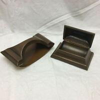 Vintage Desk Set Stamp Holder and Ink Blotter Victorian Metal Set