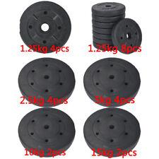 Weight Plates Set Free Dumbell Vinyl 1 inch Standard 10kg 20kg 30kg Gym Barbell