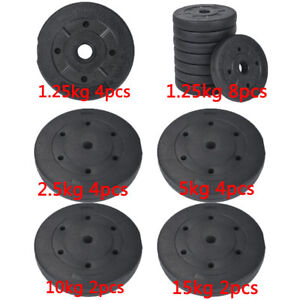 Weight Plates Set Free Dumbell Vinyl 1 inch Standard 5kg/10kg/15kg Gym Barbell