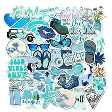 50 PCs Cute sticker VSCO Stickers for Water Bottles and Hydro Flask  (Blue)