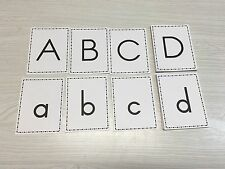 Matching Upper & Lower Case Alphabets Set - 52 Cards For Learning Center