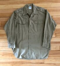 Vintage 1950s French Army Cotton Shirt
