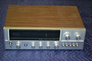 SANSUI 661 Vintage Stereo Receiver Silver Backlight Works Tested with Speakers