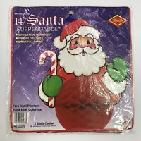 Beistle Santa 14in Suspendable Christmas Art Tissue Honeycomb 1992 Hanging 22278