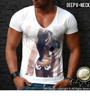 White Mens T-shirt Funny Sexy Naked Girl Mickey Mouse Cool Graphic Tee D459
