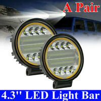2Pcs Car LED Work Light Headlight Fog Lamp Spot Beam Off-Road Driving SUV Auto