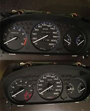 Gauges face Overlay Type-R style for Honda Civic 96-00 JDM 180  Gauge Cluster