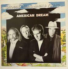 Crosby Stills Nash & Young American Dreamn LP 1988 funda interior