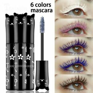 Cute Cat Mascara Durable Waterproofing Ladies Coloured Mascara UK SELLER
