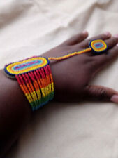Masai handmade beaded bracelet With a ring wedding jewelry with multiple colors