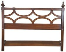 Drexel Heritage Modavanti Mediterranean Fruitwood Full Queen Headboard Bed MCM