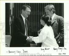1993 Press Photo Jack Drake, Attorney, with Betty Wilson and Bobby Cook