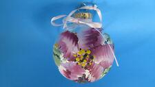 Christmas Glass Hand Painted Poinsettia Ball Ornament