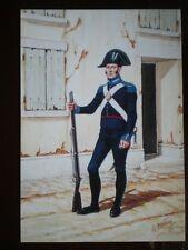 POSTCARD THE CARABINIERI OF ITALY - CARABINIER OF FOOT  1814