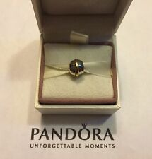 Authentic Pandora Saturn 14K Gold & S925 ALE Sterling Silver Charm #790178