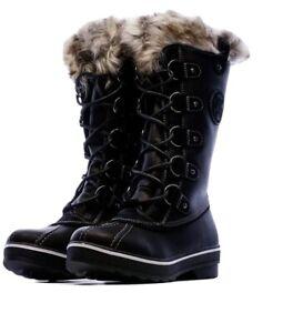 KIMBERFEEL Black Snow Zip Laces Boots Womens Eur 36 UK 3.5