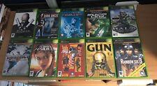 Original Xbox 10 War Games Bundle HALO HITMAN GUN CLANCY DEUS EX TOMB CONFLICT 1