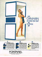 PUBLICITE ADVERTISING 084  1969  FONTAREL ORMARIN   un corps tout neuf