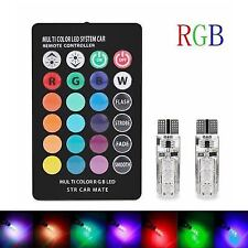 T10 W5W 12SMD RVB LED Colorful Light Ampoules de Voiture W19
